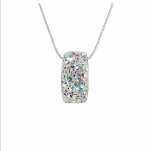 ISO Swarovski Aurora Borealis Arched Necklace